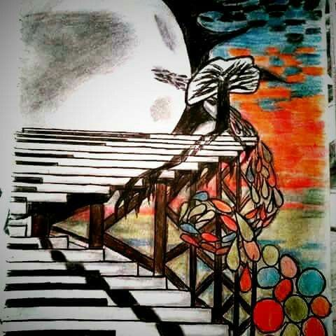 A picture of surrealism Alejandro Sanz, desde cuando with very colours