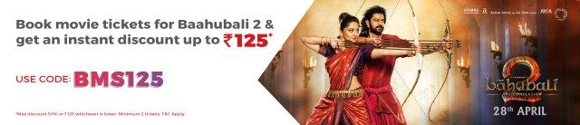 Bahubali 2 Online Booking Discount Offers-Including Free Ticket & Upto 50% Off  Bahubali 2 Online Booking All High Discount Offers BMS & Paytm  Bahubali 2 Online Booking Discount Offers  Hi Guys  Hope You are Enjoying Our Recharge Tricks & Free Recharge Apps Offers.Now  Sequence Of The Epic Bahubali The Beginning  Baahubali 2 The ConclusionIs Releasing On This Friday and We have Concluded some Best Higher Discount Offers To book Online Movie Tickets Of Baahubali 2  Paytm & BookMyshow Is…