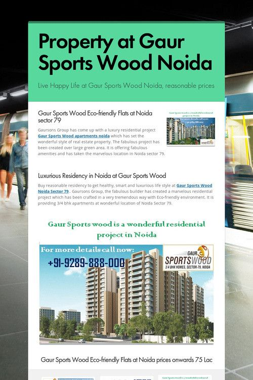 Property at Gaur Sports Wood Noida