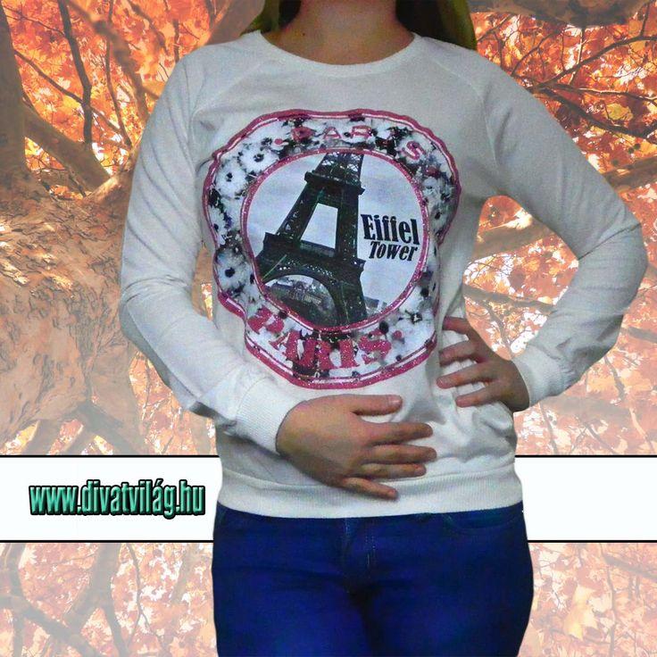 Divatos női pulóver, ami lazán illeszkedik viselőjéhez,   Hosszú ujjú és kerek nyakú.   Rugalmas anyagból.