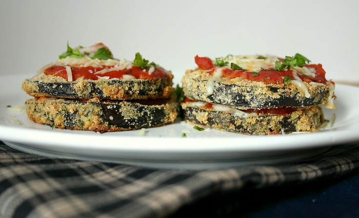 This Classic Eggplant Parmesan is light and full of flavor. Served up ...