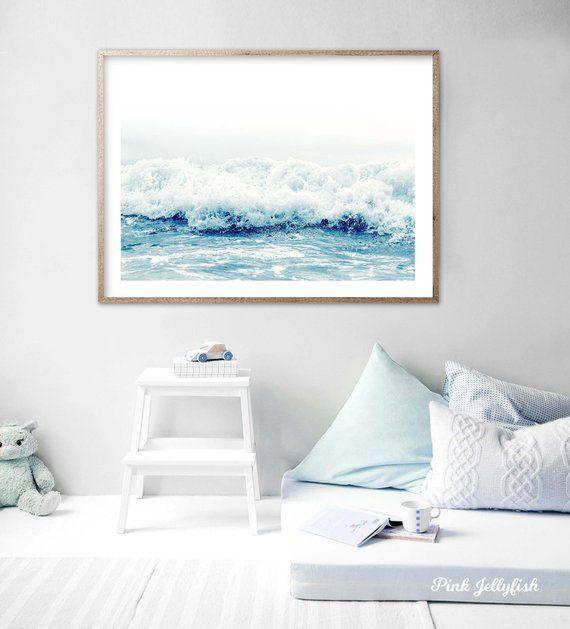 Coastal Print Beach Wall Art Beach Print Waves Print Beach