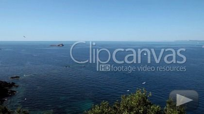 Stock video for sale at ClipCanvas: Beautiful view of the sea with Scoglietto Island at Portoferraio, Elba Island, Italy