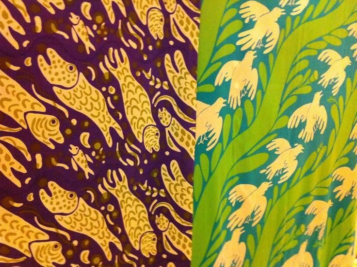 Two fabrics by Carl Johan de Geer