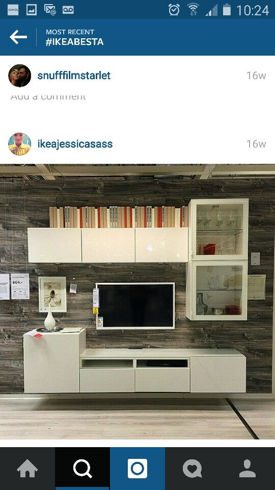 Very similar to how I would have my ikea besta