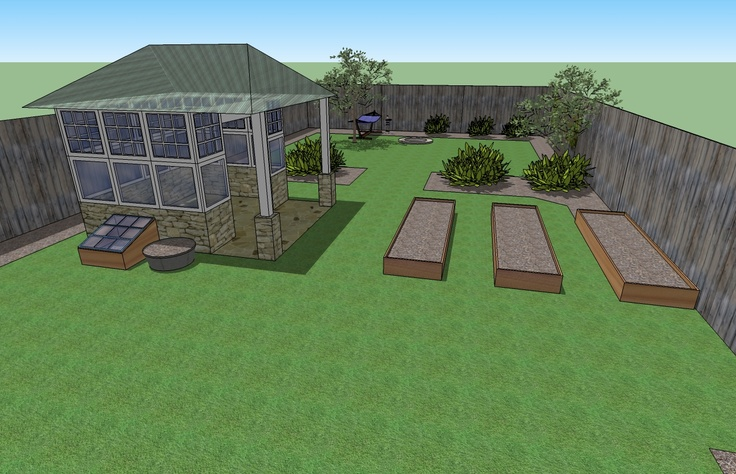 Garden planning using google sketchup blog pinterest for Sketchup jardin