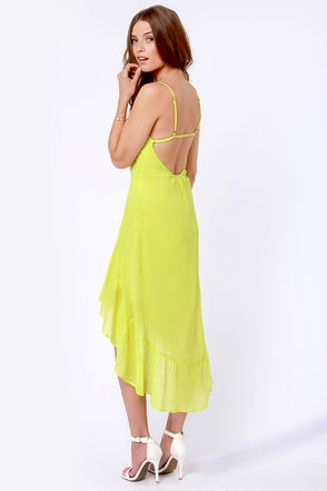 Element Eden Indio Dress - Neon Yellow Dress - $54.50