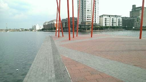 melancholy red on the docklands ..
