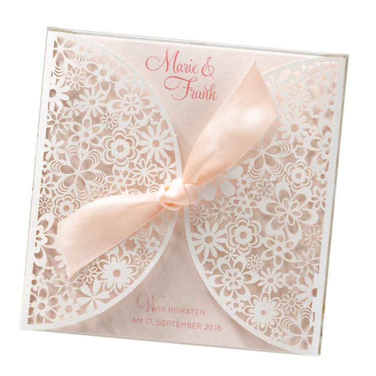 "Romantische Hochzeitskarten ""Blumenspitze"" - edel & sooo romantisch..."