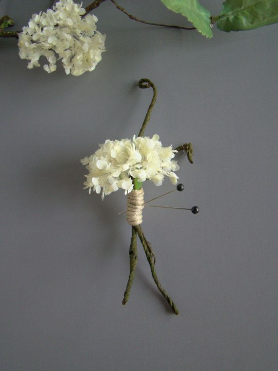 Woodland Rustic Wedding Boutonniere Groom by TwiningVines on Etsy, $12.00