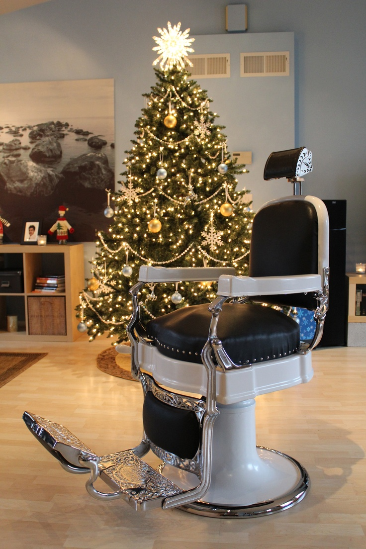 Vintage barber shop chairs - My Koken Barber Chair