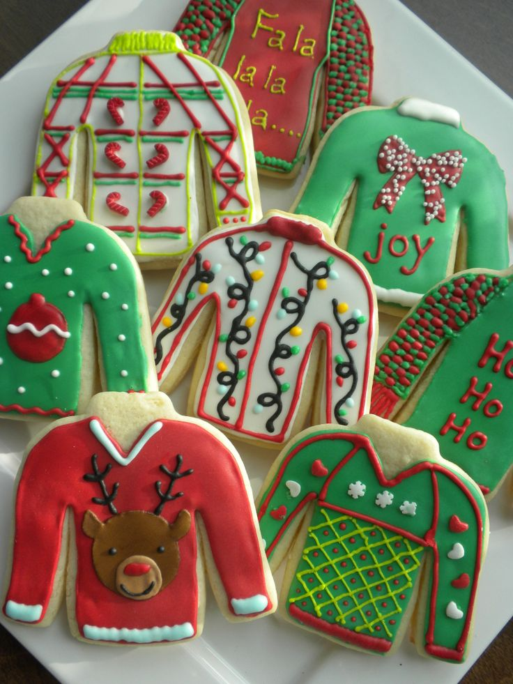 ugly sweater cookies!