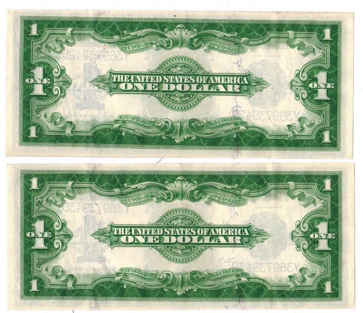 LOT OF 2 1923 $1 LARGE SIZE BLUE SEAL SILVER CERTIFICATE #FR237 SEQUENTIAL (gdc) | eBay