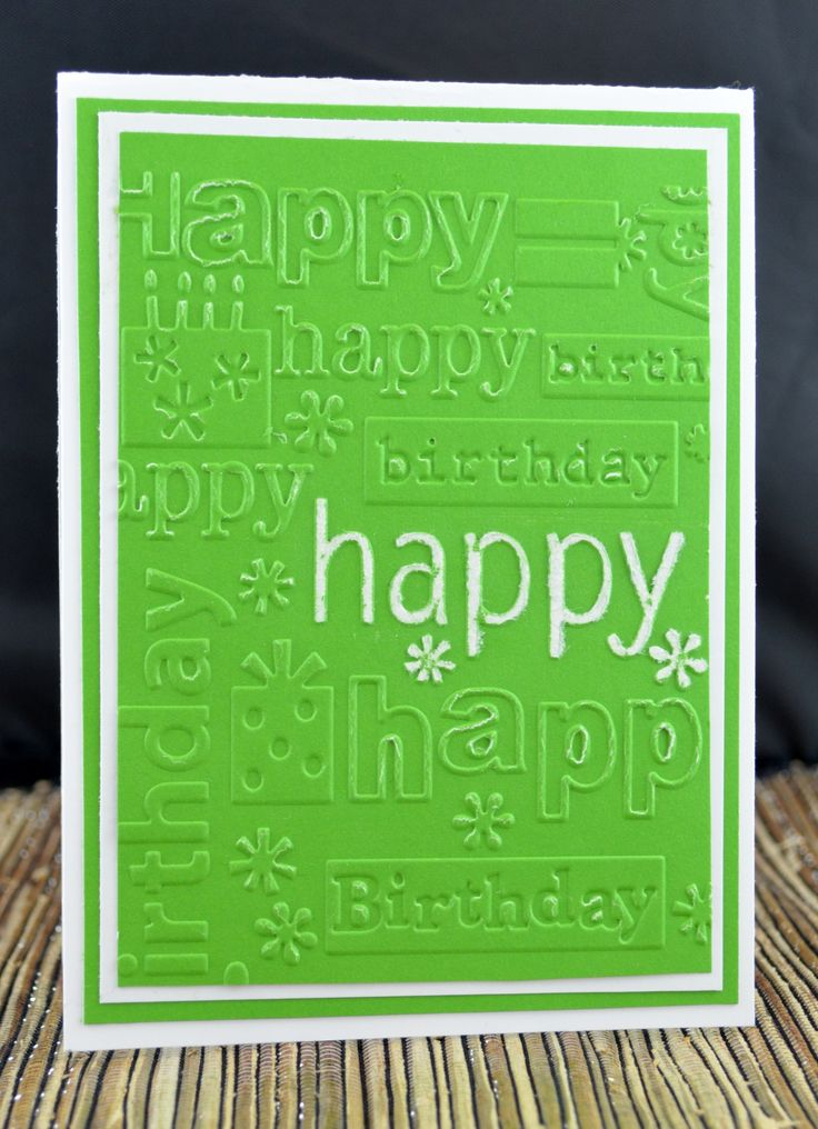 by Kim Collins, Happy Birthday Cuttlebug embossing folder