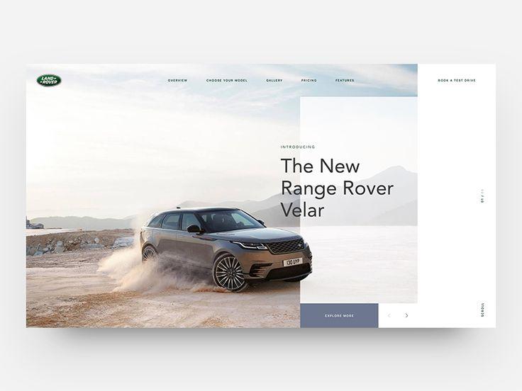 Range Rover Velar - Homepage Concept