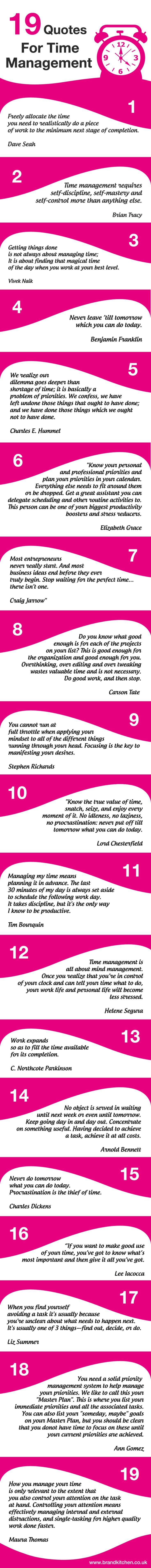19 Quotes For Time Management #timemanagement #quotes #time #entrepreneur #mumpreneur #business