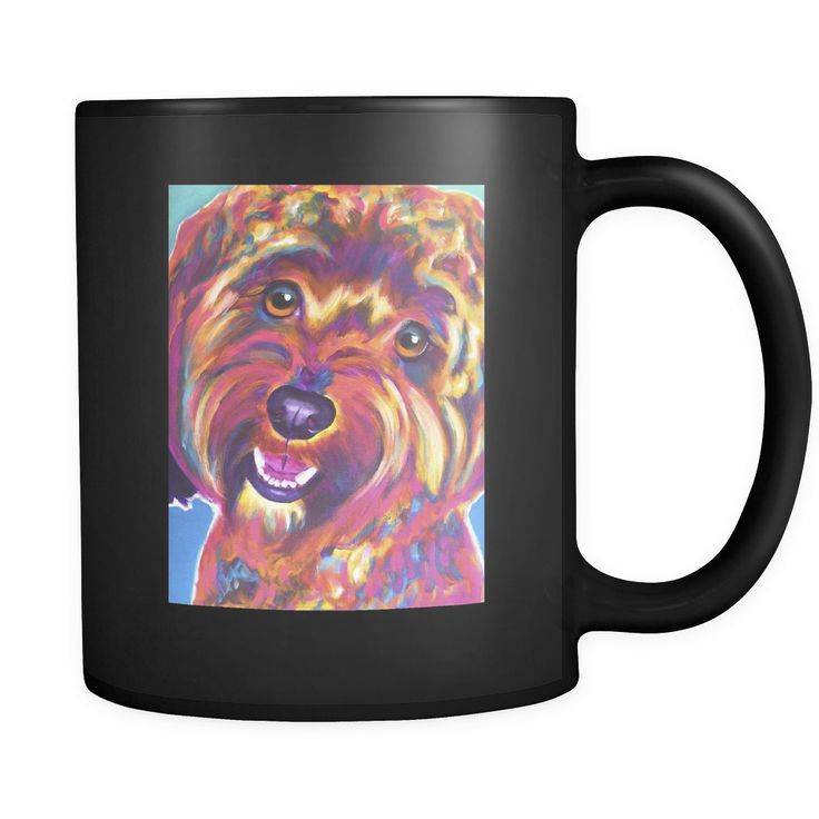 Cavapoo Dog Mug - Black 11oz