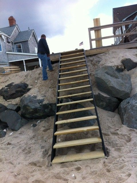 Best Beach Stair Stringers By Fast Stairs Com Beach Stairs 400 x 300