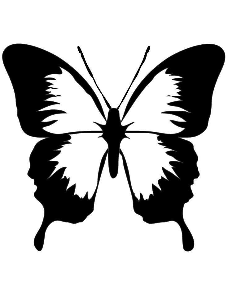 Butterfly suncatcher printable template  - Mommy Scene