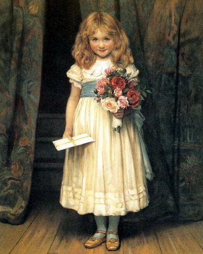 Arthur John Elsley ~ Portrait of a Victorian Girl