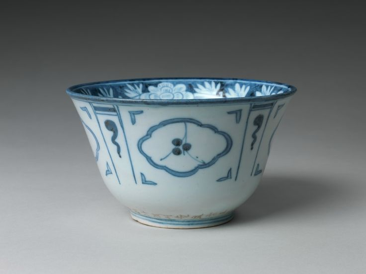 Bowl with floral and abstract design, Joseon dynasty (1392–1910), dated 1847. Korea. Porcelain with underglaze cobalt-blue design;   H. 4 5/16 in. (10.6 cm); Diam. 7 3/8 in. (18.9 cm); Diam. of foot 3 3/8 in. (8.6 cm). The Metropolitan Museum of Art, New York, Purchase, Friends of Asian Art Gifts, 2010 (2010.174) © 2000–2015 The Metropolitan Museum of Art.