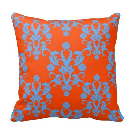 Opposites Attract Orange and Blue Damask Pillows in each seller & make purchase online for cheap. Choose the best price and best promotion as you thing Secure Checkout you can trust Buy bestThis Deals          	Opposites Attract Orange and Blue Damask Pillows Here a great deal...
