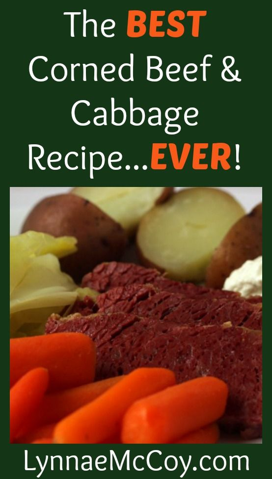The Best Corned Beef and Cabbage Recipe Ever - Serves 6