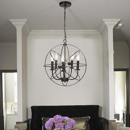 20 Stunning And Inexpensive Light Fixtures All Under 100 Vintage Industrial Lighting Ceiling Chandelier Living Room Lighting