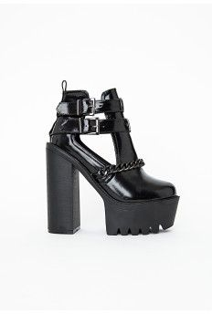 Darcy Cleated Sole Chain Trim Platform Boots