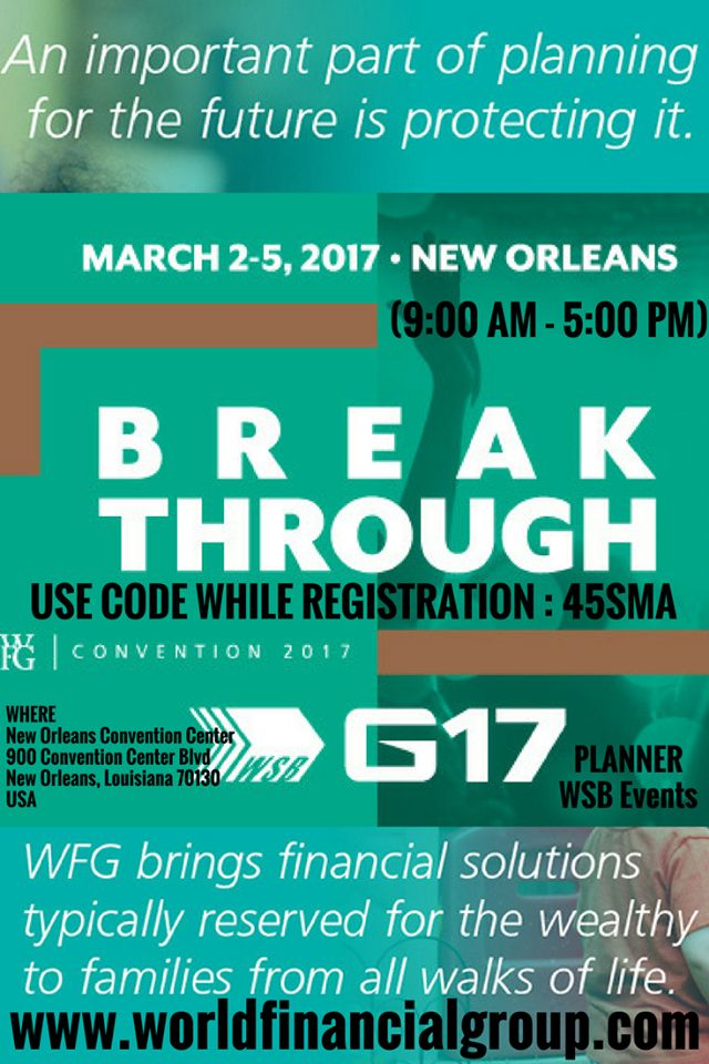 WSB G17 Convention of Builders | IT'S TIME TO MAKE A BREAKTHROUGH! | AS WSB HITS THE MAINSTREAM WITH OUR FINANCIAL EDUCATION CAMPAIGN, WE PREPARE FOR THE BIGGEST EVENT OF 2017! | Where: New Orleans Convention Center, 900 Convention Center Blvd, New Orleans, Louisiana 70130, USA | #G17 #USA #WSB_G17 #Convention #BreakThrough #FINANCIAL_EDUCATION_CAMPAIGN #New Orleans #Louisiana #BIGGEST_EVENT_OF_2017