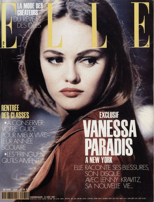 Elle France, August 1992Photographer: J. B. MondinoModel: Vanessa Paradis
