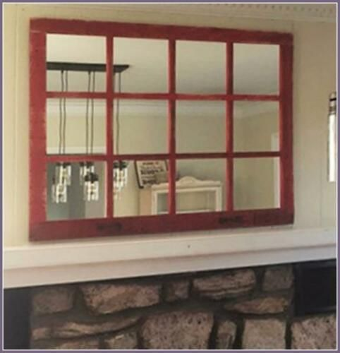 12 Pane Barnwood Window Mirror 46 034 X 36 034 Homesteader Primitive Style Color Choice Rustic Window Window Mirror Barn Wood