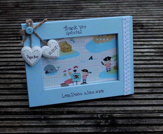 page boy picture frame page boy gift wedding party by scratchycat