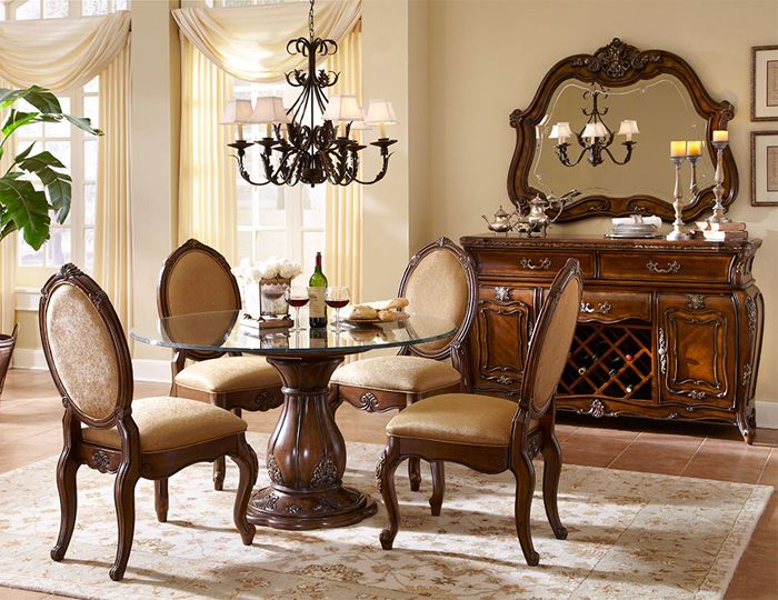 The Lavelle Melange Formal Round Dining Room Collection 12701