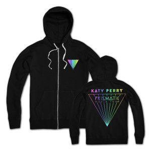 Katy Perry Prismatic Hoodie in Black printed on 100% Cotton.