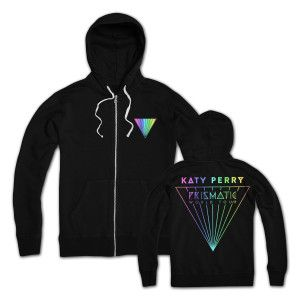 Katy Perry Prismatic Hoodie in Black printed on 100% Cotton.