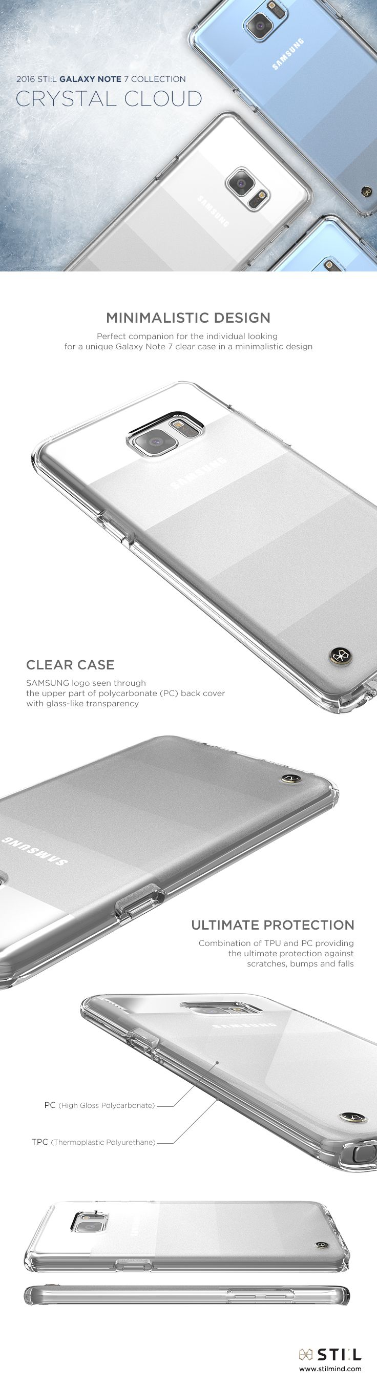 """CRYSTAL CLOUD"" is a stunning clear case for #GalaxyNote7, inspired by the…"