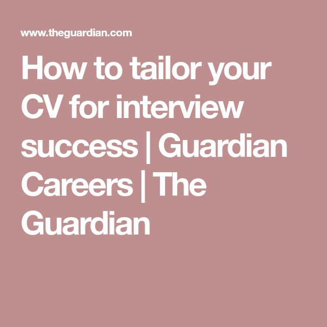 Perfect cv 25 pinterest how to tailor your cv for interview success yelopaper Image collections