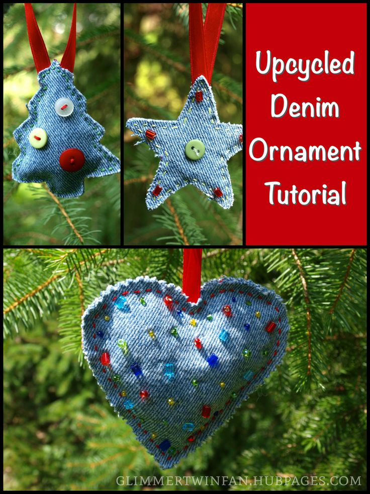 How Are Christmas Ornaments Made Part - 16: How To Make Ornaments Out Of Recycled Jeans