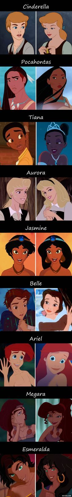 What Would Disney Princesses Look Like If They Were Men?
