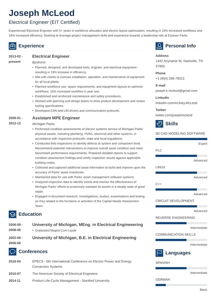 Professional Resume Example Instant Download 1 Page Resume Example For Ms Word Diy Resume Exa In 2020 Engineering Resume Templates Engineering Resume Resume Examples