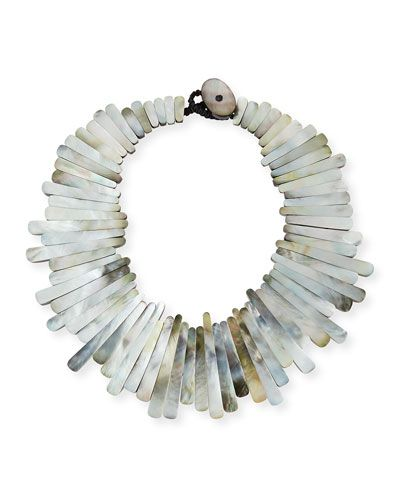 Viktoria Hayman Geometric Mother-of-Pearl Collar Necklace CTbXLI6KII