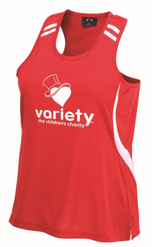 Variety Red Runners Personalised Singlet | Variety - The Children's Charity