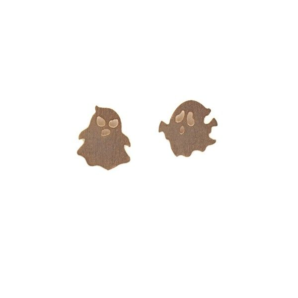 Ghost Gold Stud Earrings by Pigeonhole. http://aslanandleo.com/product/ghost-gold-stud-earrings-by-pigeonhole/