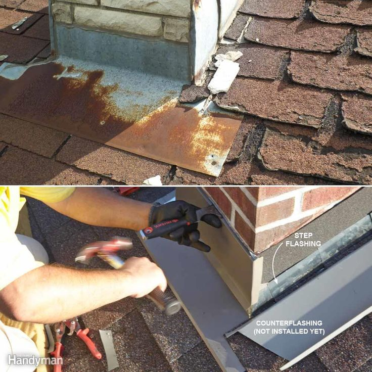 Bad Chimney Flashing - Good chimney flashing includes sections of �step flashing� that run up the sides of the chimney, and �counterflashing.� Counterflashing fits into grooves cut into the chimney and covers the step flashing. Cutting, fitting and installing all those parts takes time, so sloppy roofers take shortcuts.Improperly flashed chimneys (top photo) cause lots of rotting roof sheathing and framing members. Chimneys need to be properly step-flashed and counterflashed so that water…