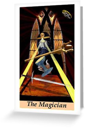 The Magician. You have all the tools, talents and resources that you need. Go make some magic! � Also buy this artwork on stationery, apparel, stickers, and more. #tarotcards