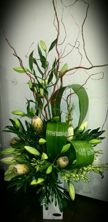 Whites Greens corporate flowers