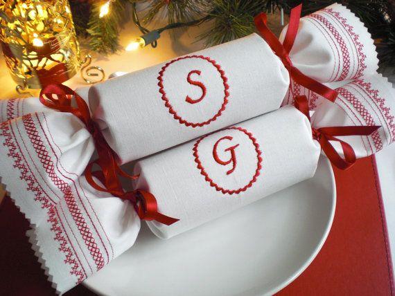 Monogrammed Reusable Christmas Cracker by KateSprostonDesign