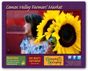 Comox Valley Farmer's Market. Green web design from nrichmedia.com