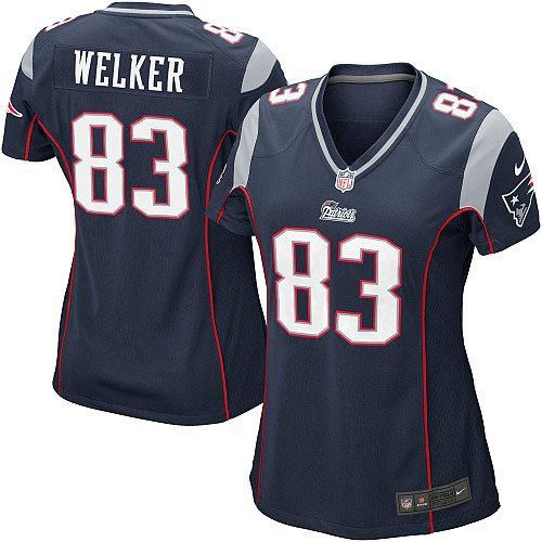 New Women\u0027s Blue NIKE Game New England Patriots #83 Wes Welker Team Color NFL  Jersey
